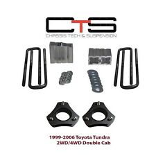 "Steel Toyota Tundra LIFT KIT FRONT 3""REAR 2"" COIL SPACER BLOCK UBOLT 2WD 4X2/4x4"