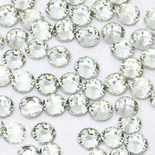 1440pcs HotFix Iron-On Flatback Rhinestones Seed Beads SS10 Crystal Clear 3mm
