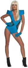 Lady Gaga Poker Face Video Swimsuit Blue Pop Rock Star Halloween Adult Costume