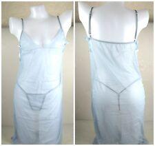 light blue see through sexy lingerie babydoll set matching thong fancy dress
