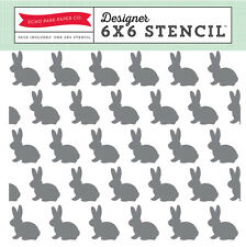 "6""x6"" Easter Baby Bunny Stencil Nursery Card Shower ink pads acrylic paint chalk"