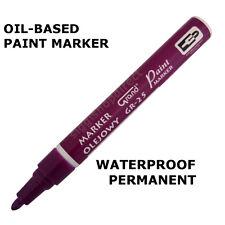 Violet Paint Marker base di olio penna per IMPERMEABILE legno VETRO PLASTICA GOMMA PNEUMATICO