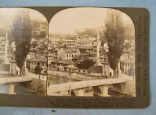 Stereoview Keystone Sarajevo From Porch New Town Hall Bosnia Austria Hungary (O)
