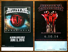 HELLYEAH Unden!able | Blood For Blood Ltd Ed 2 Posters Lot +FREE Metal Poster!