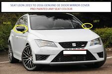 SEAT LEON MK3 GENUINE OE LEFT WING MIRROR COVERS 2013-2017 (NEW) PAINTED