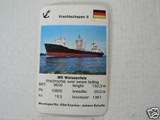 66-SCHEPEN,SHIPS VRACHTSCHEPEN II MS WEISSENFEIS ZWARE LADING