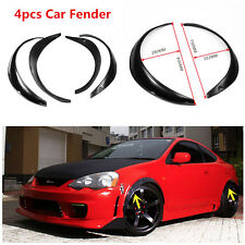 Popular 4PCS Black Polyurethane Flexible Exterior Fender Flares For Car