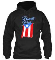 Big Puerto Rico Flag - Gildan Hoodie Sweatshirt