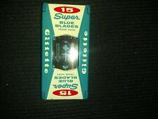Vintage Gillette Super Blue 15 Blades