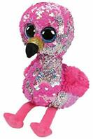 TY Flippables Pinky Flamingo Regular Size Sequins Soft Toy
