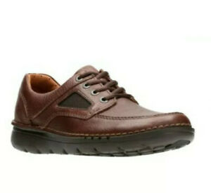 Clarks BNIB Men's Shoes UNNATURE TIME Brown Leather UK 10 G/ 44.5