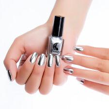 6ml Metallic Nail Polish Magic Mirror Effect Manicure Varnish Silver Rose Gold