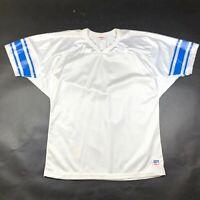 Vintage 90s Detroit Lions Wilson Mens XL White Silver Blue NFL Football Jersey