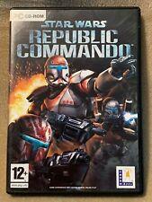 PC Star Wars Republic Commando PC Game, Lucas Arts, Good Condition Complete