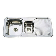 980 x 480 x 170 mm Square Double Bowls Kitchen Sink Right Single Drainer