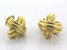 Tiffany & Co. 18k Yellow Gold Signature X Earrings 8.1g