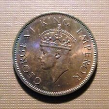 INDIA, BRITISH - 1940 C.  BRONZE 1/4 ANNA - GEORGE V- 2ND HEAD .  KM#531  QMC 3