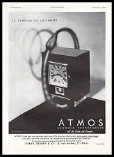 PUBLICITE  ATMOS  PENDULE  HORLOGERIE  ART DECO  AD 1932 - 2Hb