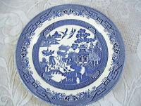 "Churchill Blue Willow 10 1/4"" Dinner Plate Blue & White Made In England"