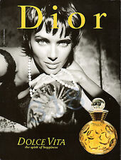 DIOR DOLCE VITA Perfume ADVERT - 1997 Advertisement Christy Turlington ?