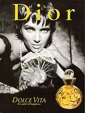 DIOR DOLCE VITA Perfume ADVERT - 1997 Advertisement Christy Turlington ?
