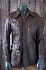 Vintage Men's Genuine Leather Jacket JB EURO-PORT Brown 4 Pockets