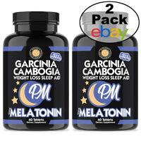 Weight Loss and Sleep Aid Garcinia Cambogia PM Sleep Burn Fat and Rest Aid 2PK