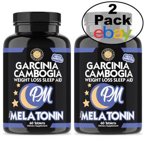 Weight Loss and Sleep Aid Combo Garcinia Cambogia PM Sleep and Rest Aid 2PK