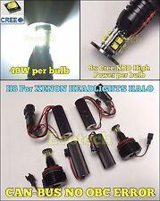 80W H8 CREE XBD LED ANGEL EYE MARKER DRL BULB HALO FOR BMW 08-11 E63 E64 M6