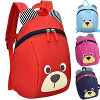 Baby Kids Cartoon Bear Backpack School Bags Boys Girls Bookbag Backbag Zipper