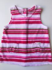 'SPROUT' BABY GIRL VELOUR PINAFORE DRESS CLOTHES GARMENT SIZE 00 FITS 3-6M