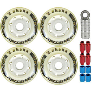 Labeda Addiction Wheels 72mm Roller Hockey 4-Pack with MICRO Bearings / Spacers