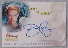 WOMEN OF STAR TREK VOYAGER JERI RYAN AS SEVEN OF NINE AUTOGRAPHED CARD SA1