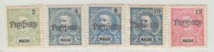 "Macau 1902 King Carlos I of Portugal-Issues 1898 Overprinted ""PROVISORIO"". Mint"