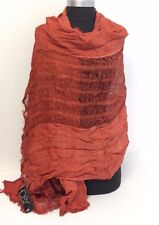 NEW Women/Men's Solid Cotton Linen Scarf Shawl Stole Wrap PASHMINA Burnt Orange