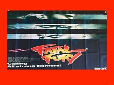 LARGE Fatal Fury NEO GEO Arcade Video Game Banner Flag Poster FREE SHIPPING