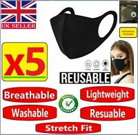 5 X Face Mask Protective Covering Mouth Masks Washable Reusable Adult Kids UK