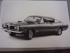 1969 PLYMOUTH BARRACUDA 383  FASTBACK  12 X 18  PHOTO  PICTURE