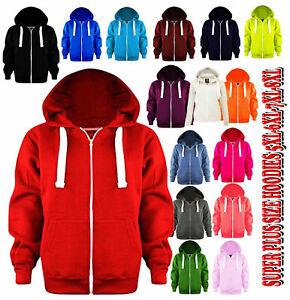 New Women's Super Plus Size  Hoodie Ladies Sweatshirt Zip hoodie  5 -8 XL