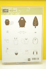 RETIRED Stampin Up Furry Folk Critters Animals Forest Owl Squirrel Leaf Butterfl