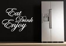 ' Comer Bebida Enjoy ' Adhesivos con Texto Cocina Comedor de Pared para