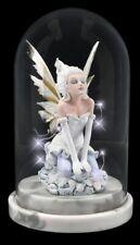 Elfen Figur unter Glaskuppel LED - Eira - Fantasy Fee Engel Elfenprinzessin Deko