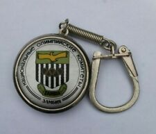 VTG KEYCHAIN / KEYRING ' ZAMBIA OLYMPIC COMMITTEE '