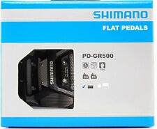 Shimano PD-GR500 Flat Platform MTB BMX Pedals Set Black w/ Pins, New in Box