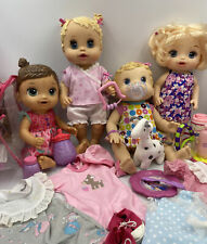Huge Lot Of Baby Alive Dolls Changing Time Sip N Slurp Sweet Spoonful Clothes ++