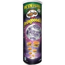 Pringles PULLED PORK BURGER potato chips -FREE US SHIPPING-