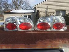 1999-2000 Honda Civic Sedan Chrome Tail Lights Set Euro