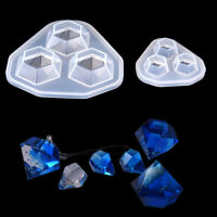Diamond Pendant Necklace Crafts Making Resin Silicone Mold DIY Jewelry Tool NMUS