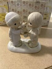 """New ListingPrecious Moments """"Christmastime Is For Sharing� Model E-0504"""