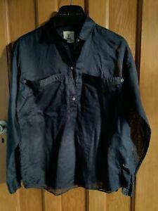 MIH navy lightweight popover shirt. bnwot size s